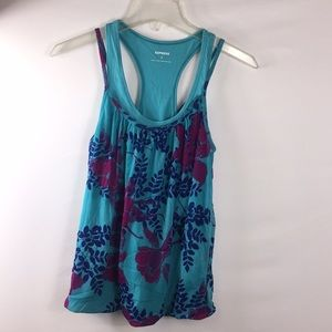 Express Women's Floral Double Layer Tank Top